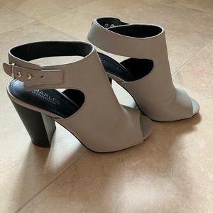 Charles David Open Toe Block Heeled Sandals Sz 9